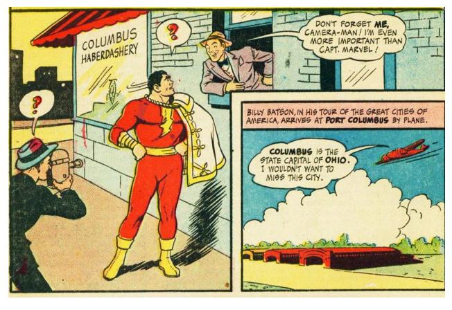 Bizarro Back Issues: Captain Marvel's Inexplicable Visit to Columbus, Ohio 1946
