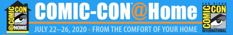 Comic-Con@Home is Live!