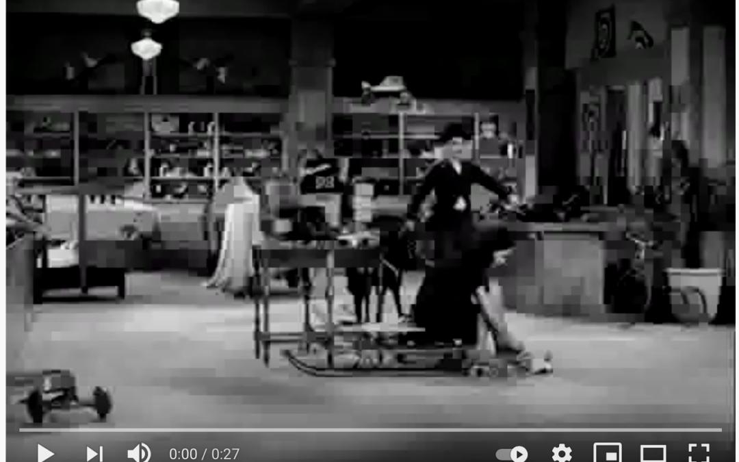 Charlie Chaplin Rollerskating Scene in Modern Times