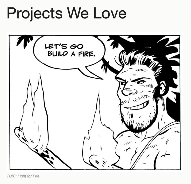 TUKI is Featured in Kickstarter's 'Projects We Love' Newsletter!