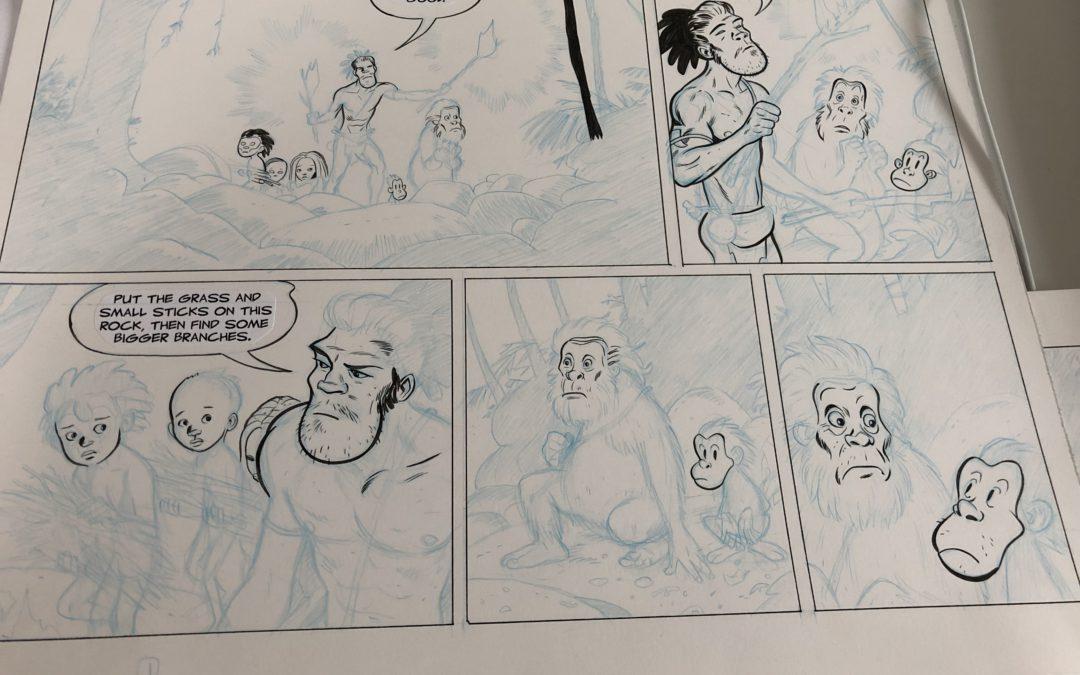 TUKI Fight for Fire – Tight Pencils/Beginning Inks