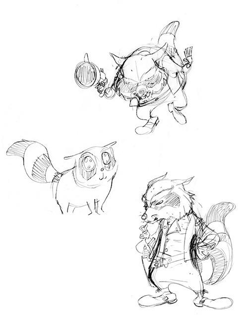 Rocket Raccoon Sketches